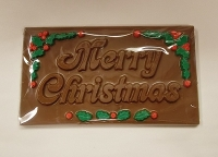 Merry Christmas Chocolate Card w/ Holly