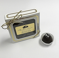 Dark Chocolate Caramel W Hawaiian Sea Salt 4 Piece Truffles