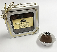 Milk Chocolate Caramel W Hawaiian Sea Salt 4 Piece Truffles