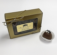 Milk Chocolate Caramel W Hawaiian Sea Salt 6 Piece Truffles