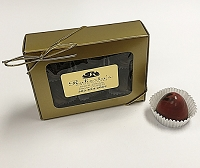 Dark Chocolate Pomegranate 6 Piece Truffles
