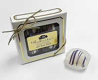 White Chocolate Lavender 4 Piece Truffles