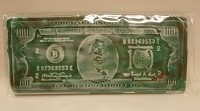 100 Dollar Bill Chocolate Card