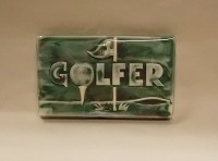 Chocolate #1 Golfer Card