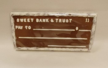 Sweet Bank and Trust Chocolate Check