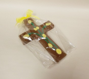 Chocolate cross w/ roses