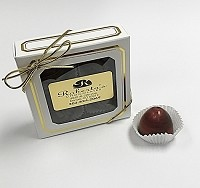 Dark Chocolate Pomegranate 4 Piece Truffles