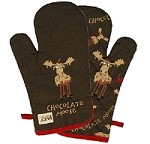 Chocolate Moose Oven Mitt