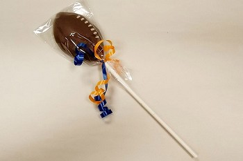 Chocolate Football Sucker